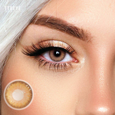 TTDeye Trinity Brown Colored Contact Lenses