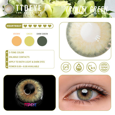 TTDeye Trinity Green Colored Contact Lenses