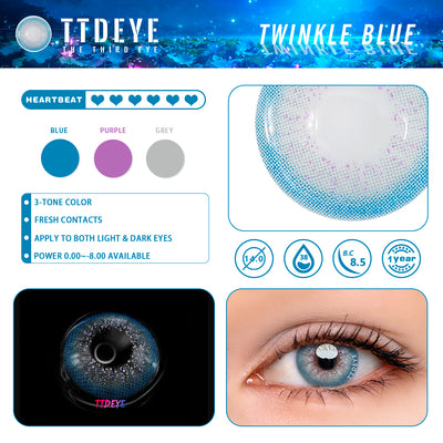 TTDeye Twinkle Blue Colored Contact Lenses