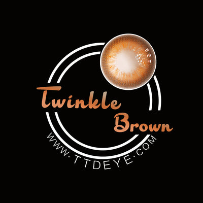 TTDeye Twinkle Brown Colored Contact Lenses