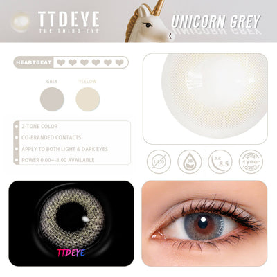 REAL x TTDeye Unicorn Grey Colored Contact Lenses