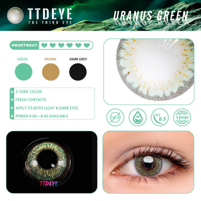 TTDeye Uranus Green Colored Contact Lenses