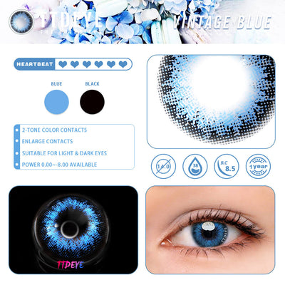 TTDeye Vintage Blue Colored Contact Lenses