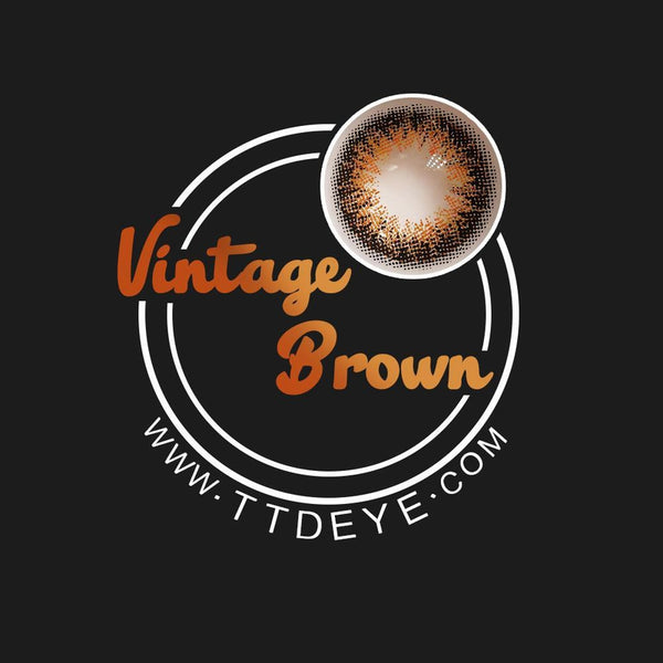 TTDeye Vintage Brown Colored Contact Lenses