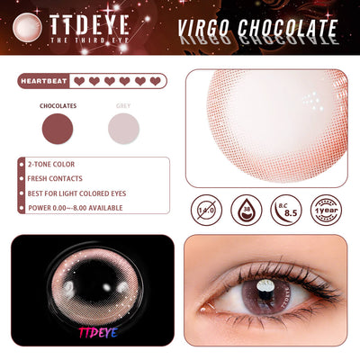 TTDeye Virgo Chocolate Colored Contact Lenses