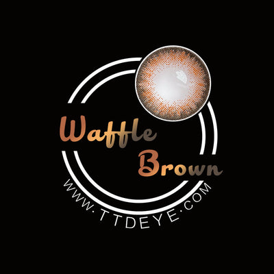 TTDeye Waffle Brown Colored Contact Lenses
