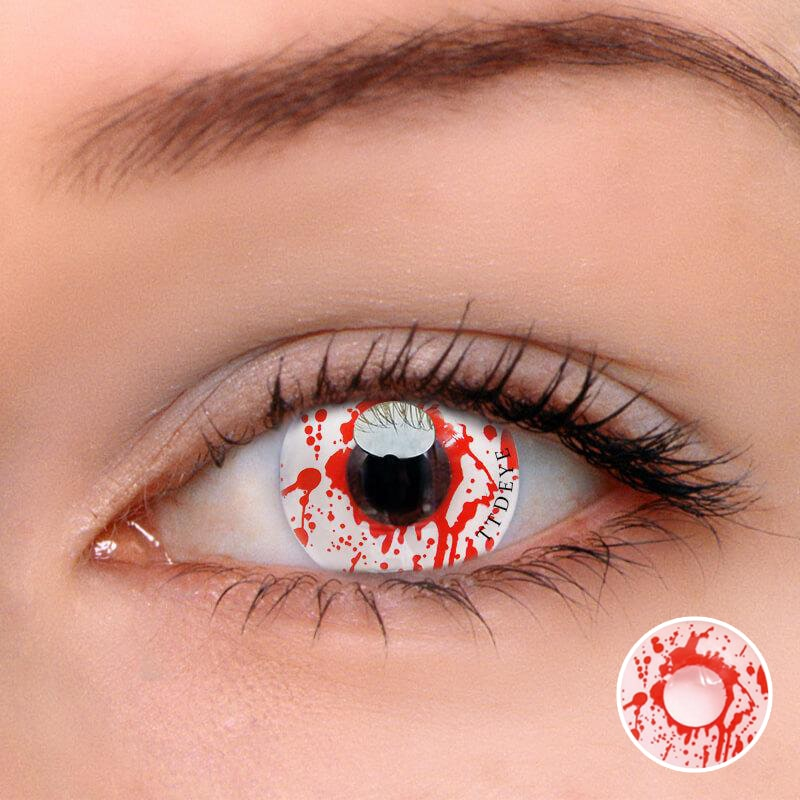 TTDeye Zombie Blood Colored Contact Lenses