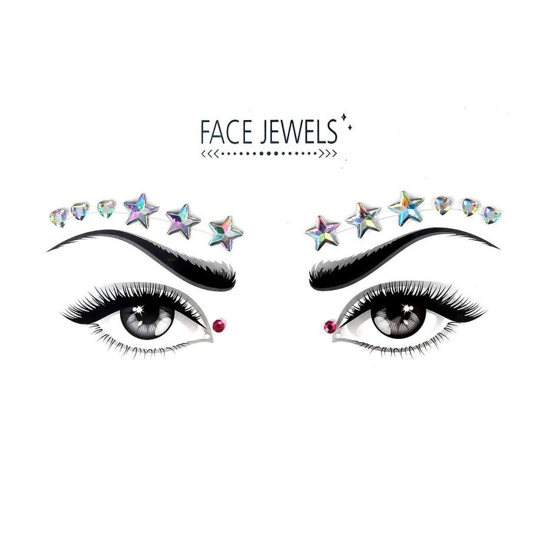 Star Sky Rhinestone Crystal Face Jewels