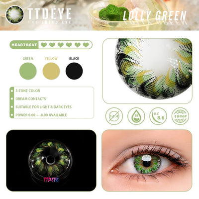 TTDeye Lolly Green Colored Contact Lenses