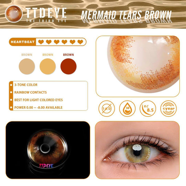 TTDeye Mermaid Tears Brown Contact Lense-3