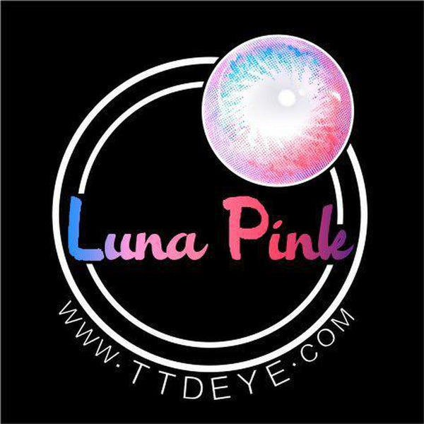 ttdeye luna pink colored contact lenses logo