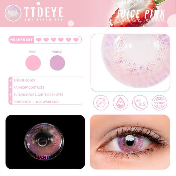 TTDeye Juice Pink Colored Contact Lenses