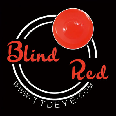 TTDeye Blind Red Colored Contact Lenses