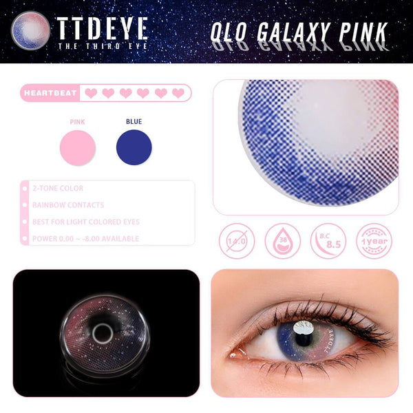 TTDeye Galaxy Pink Colored Contact Lenses-3