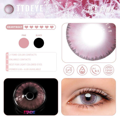 TTDeye Ice Pink Colored Contact Lenses