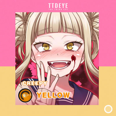 TTDeye Creepy Yellow Colored Contact Lenses
