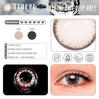 TTDeye Crystal Ball Deep Grey Colored Contact Lenses