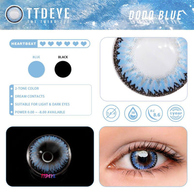 TTDeye Dodo Blue Colored Contact Lenses