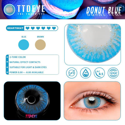TTDeye Donut Blue Colored Contact Lenses