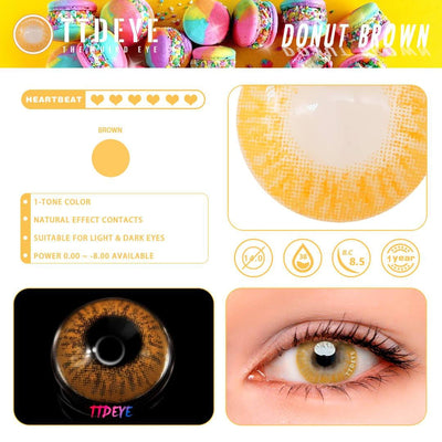 TTDeye Donut Brown Colored Contact Lenses