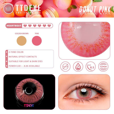 TTDeye Donut Pink Colored Contact Lenses