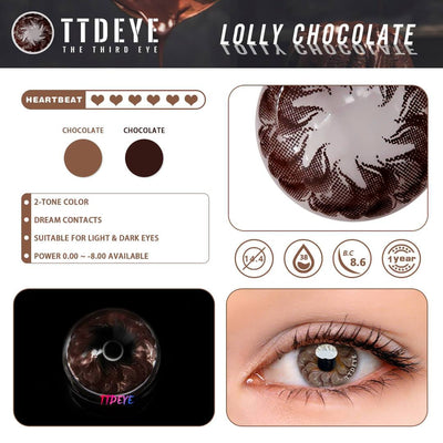 TTDeye Lolly Chocolate Colored Contact Lenses