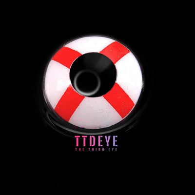 TTDeye English Flag Colored Contact Lenses