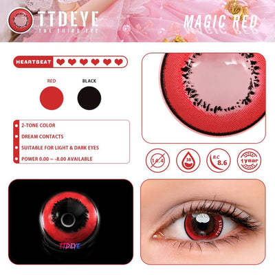 TTDeye Magic Red Colored Contact Lenses