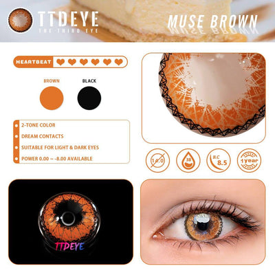 TTDeye Muse Brown Colored Contact Lenses
