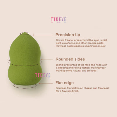 TTDeye Latte Coffee Flawless Makeup Sponge