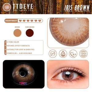 TTDeye Iris Brown Colored Contact Lenses