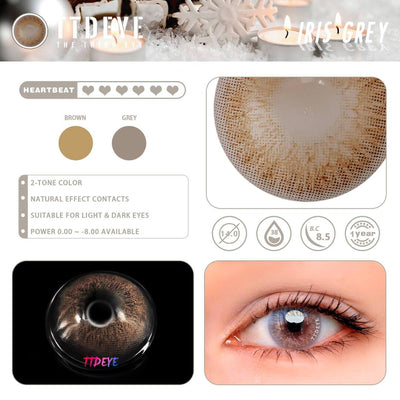 TTDeye Iris Grey Colored Contact Lenses