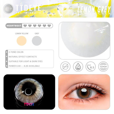 TTDeye Lemon Grey Colored Contact Lenses