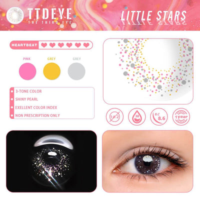 TTDeye Little Stars Colored Contact Lenses