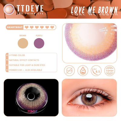 TTDeye Love Me Brown Colored Contact Lenses