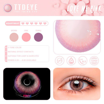 TTDeye Love Me Pink Colored Contact Lenses