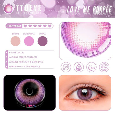 TTDeye Love Me Purple Colored Contact Lenses