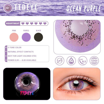 TTDeye Ocean Purple Colored Contact Lenses