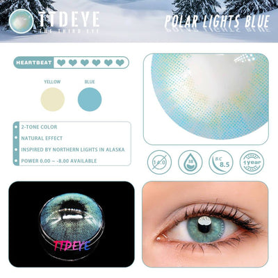 TTDeye Polar Lights Blue Colored Contact Lenses