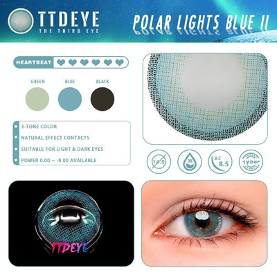 TTDeye Polar Lights Blue II Colored Contact Lenses