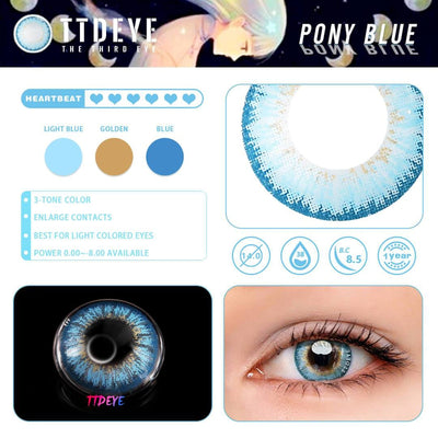 TTDeye Pony Blue Colored Contact Lenses