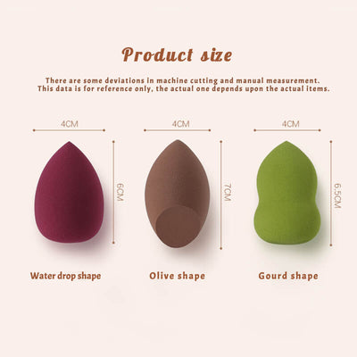 TTDeye Burgundy Red Flawless Makeup Sponge