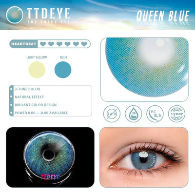 TTDeye Queen Blue Colored Contact Lenses
