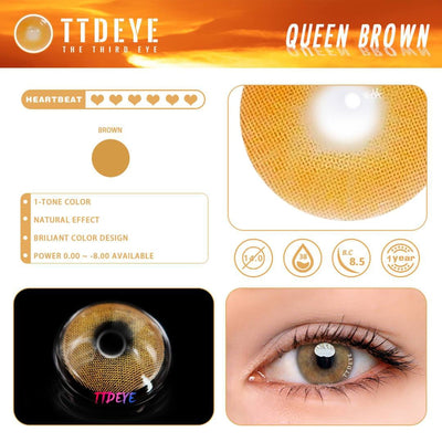TTDeye Queen Brown Colored Contact Lenses