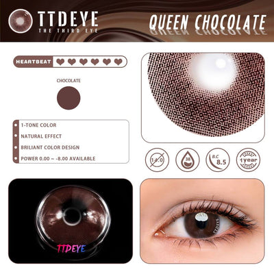 TTDeye Queen Chocolate Colored Contact Lenses