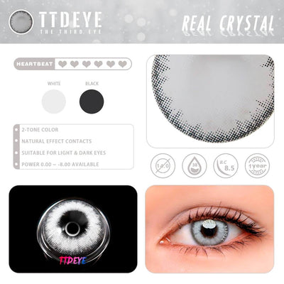 TTDeye Real Crystal Colored Contact Lenses