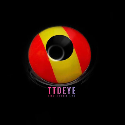 TTDeye Spanish Flag Colored Contact Lenses