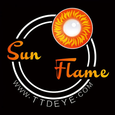 TTDeye Sun Flame Colored Contact Lenses