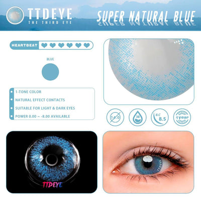 TTDeye Super Natural Blue Colored Contact Lenses