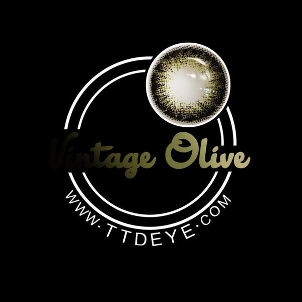 TTDeye Vintage Olive Colored Contact Lenses